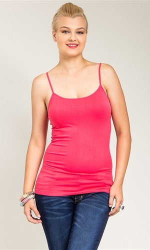 pink camisole tank top