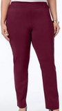 Maroon Burgundy Women's Plus Size Pants