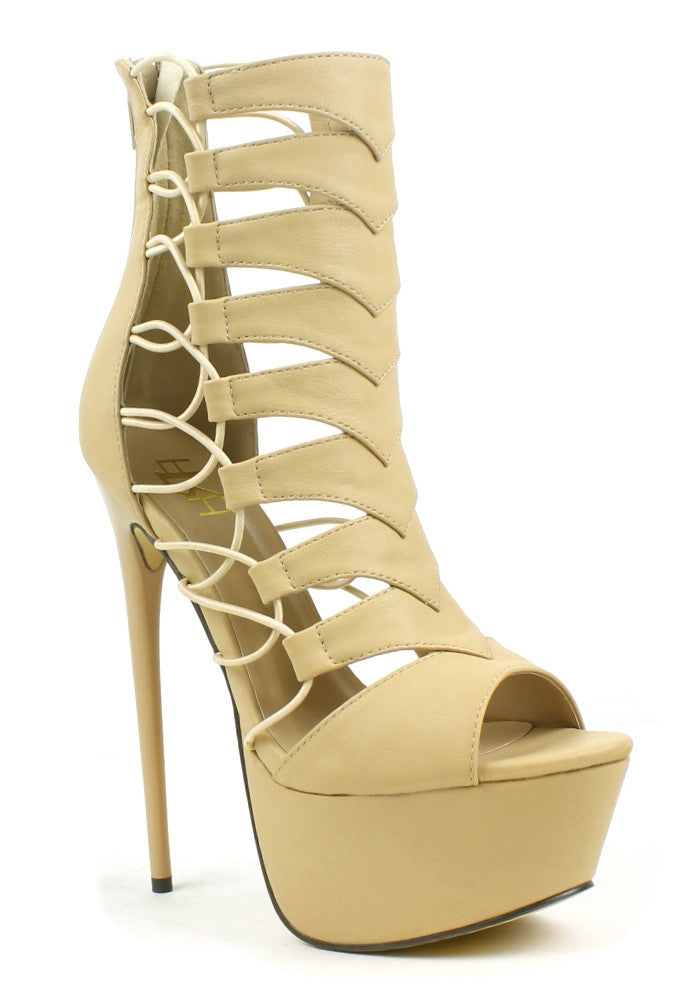 summer Beige Stiletto Sandals