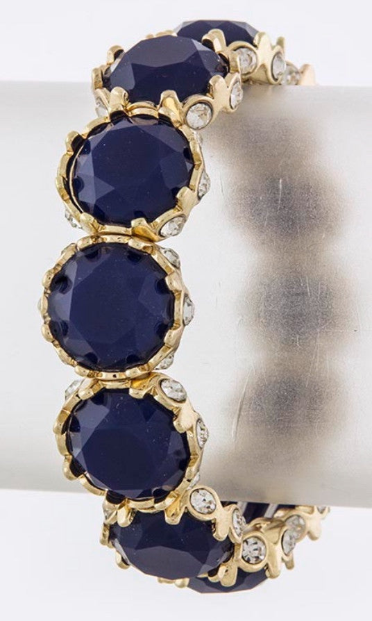 Navy Blue Gem Bracelet