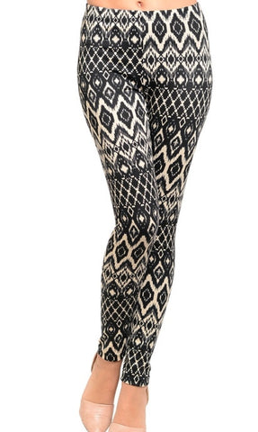 Black & Cream Leggings
