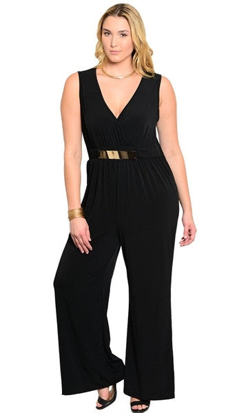 Sleeveless Black Romper - Clearance