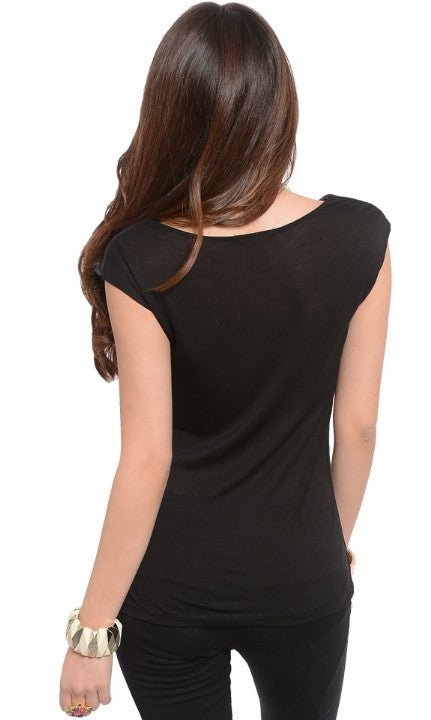 Black Rose Top
