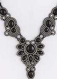 black and silver gem necklace