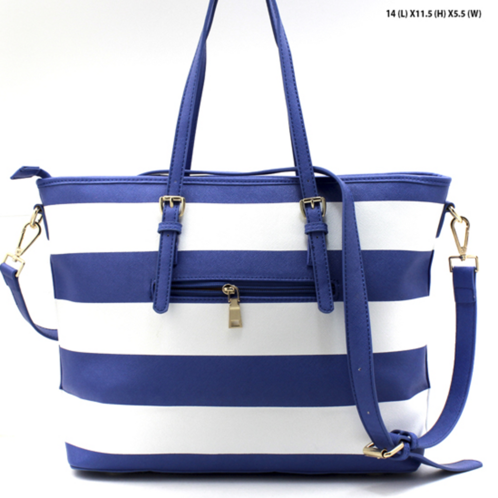 Blue Striped Tote
