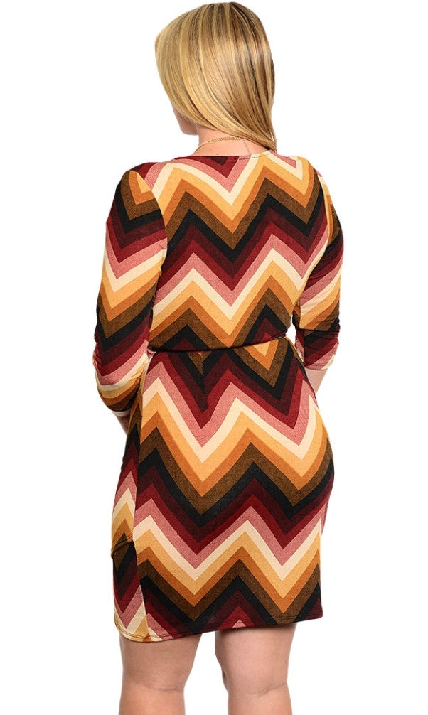 Plus Size Brick Dress