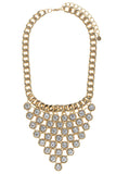 gold chain with linked crystal necklace