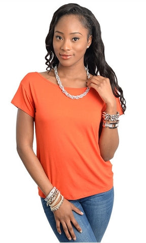 Cutout Accent Orange Top
