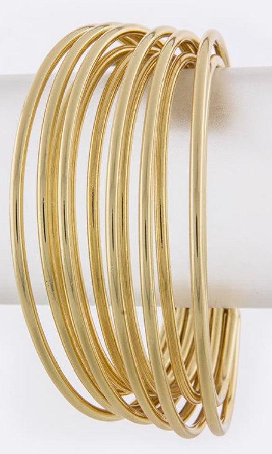 Layered Metal Wire Cuff Bracelet
