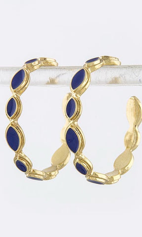 Flat Oval Hoop Earrings