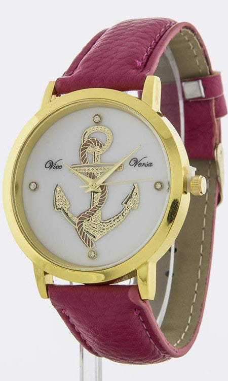 Fuchsia Strap Ladies Watch