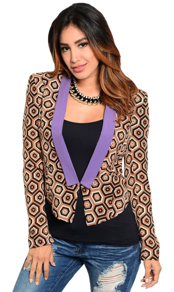 Geo Pattern Jacket - *FINAL SALE