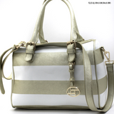 Gold Striped Handbag
