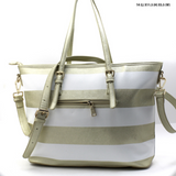 designer gold tote bag