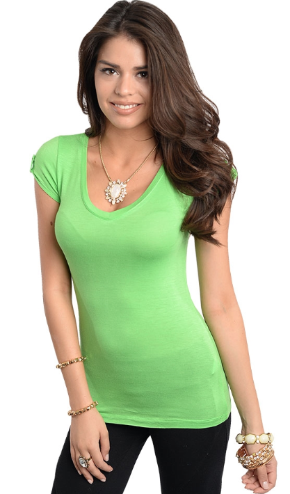 Summer lime green shirt