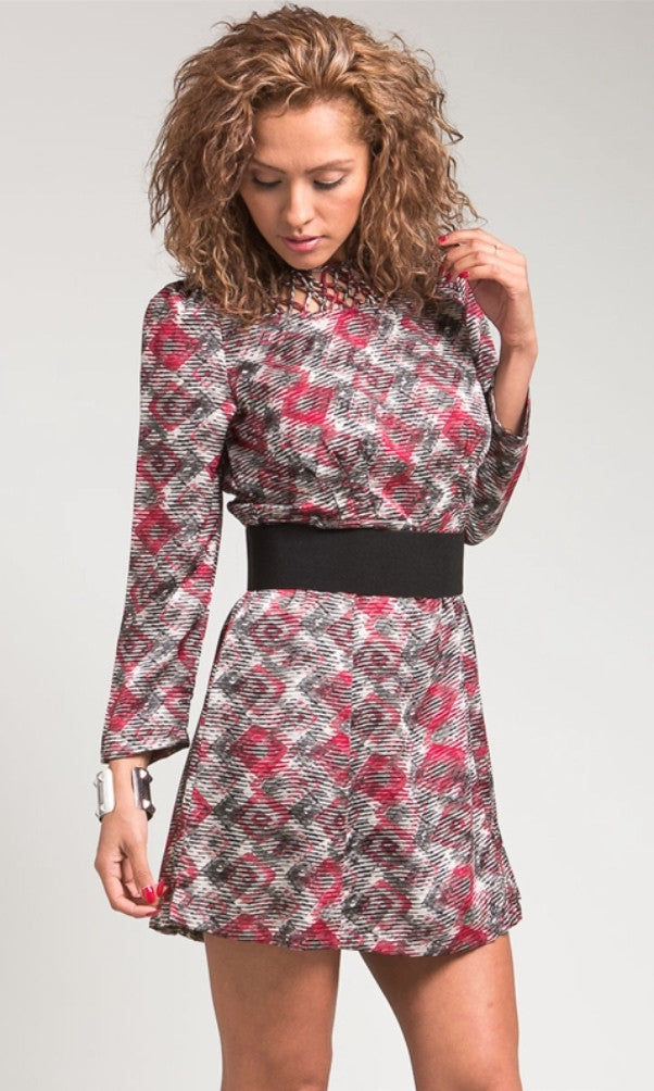 Red pattern spring dress