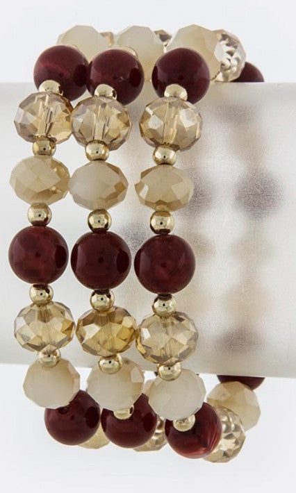 Layered Mix Faux Gem Bracelet