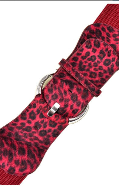 Red Animal Print Belt