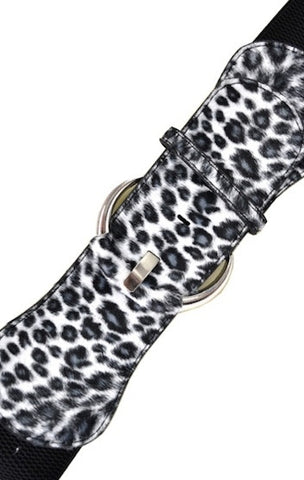 Black Animal Print Belt