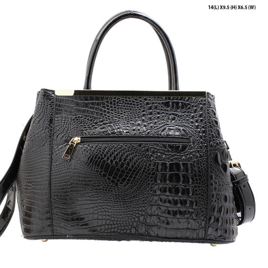 leatherette croc bag