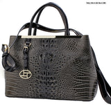 crocodile designed tote bag