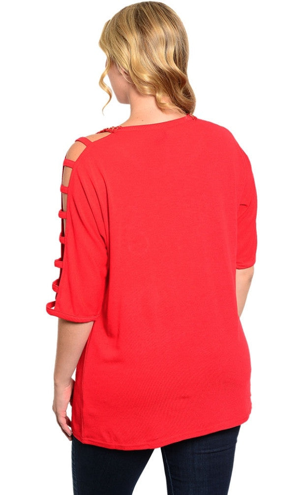 Monogram Red Shirt