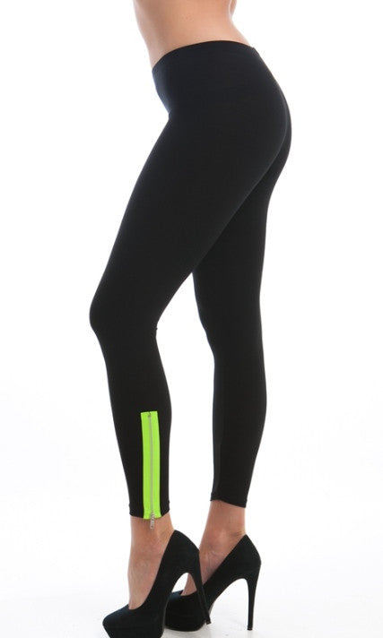 ankle zipped black leggings