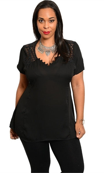 Women's Plus Size Black Shirt