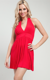 Red Halter Tunic Dress