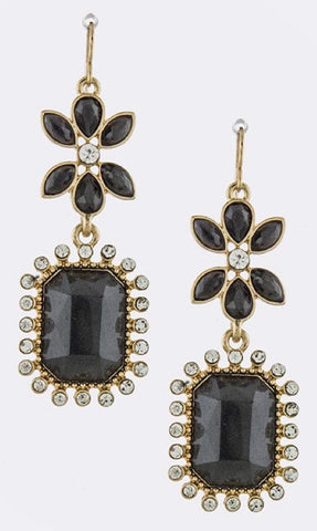 Tiered Gem Drop Earrings