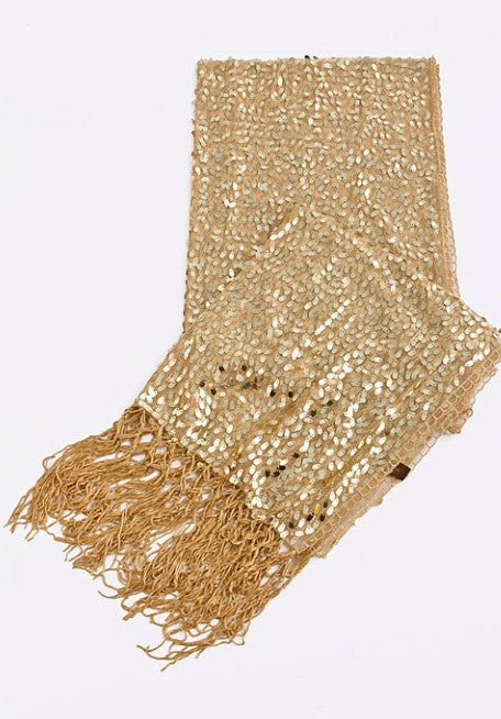 Evening Wrap Sequin Scarf