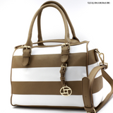 gorgeous striped handbag