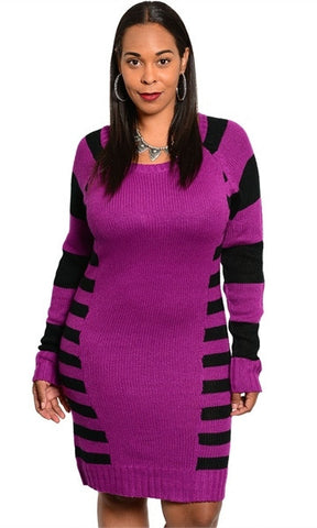 plus size sexy sweater dress