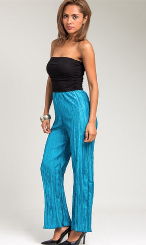 Teal Strapless Jumpsuit