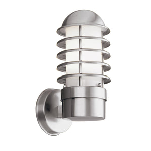 Searchlight 051 Louvre 1 Light Stainless Steel Wall Light