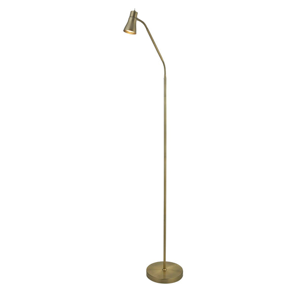 Searchlight 1007AB Fusion 1 Light Antique Brass Floor Lamp