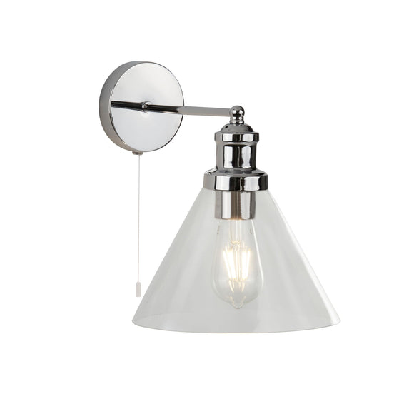 Searchlight 1277CC Pyramid 1 Light Polished Chrome Wall Light (Switched)
