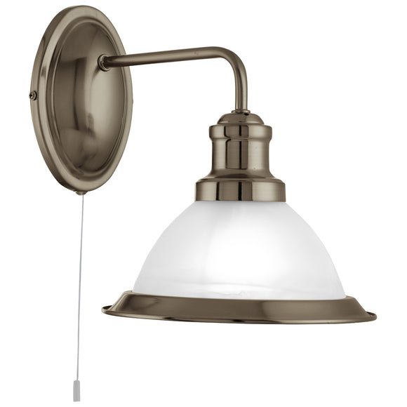 Searchlight 1481AB Bistro 1 Light Antique Brass Wall Light