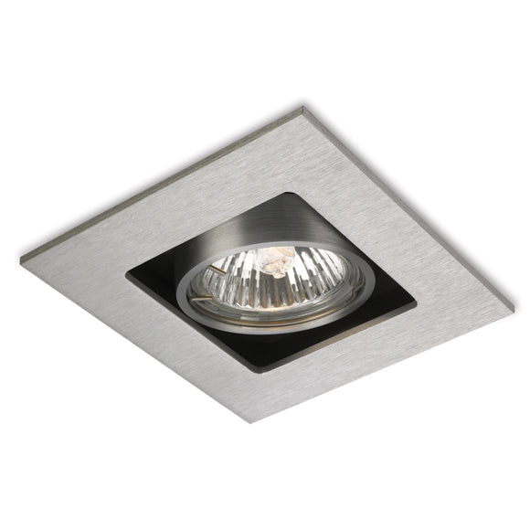 Firstlight 1500BS Cube 1 Light Brushed Steel Downlight