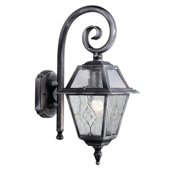 Searchlight 1515 Genoa 1 Light Black Silver Wall Light