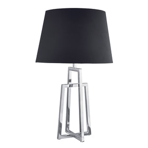 Searchlight 1533CC-1 Polished Chrome Table Lamp With Fabric Shade