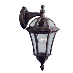 Searchlight 1563 Capri Rustic Brown Outdoor Wall Light