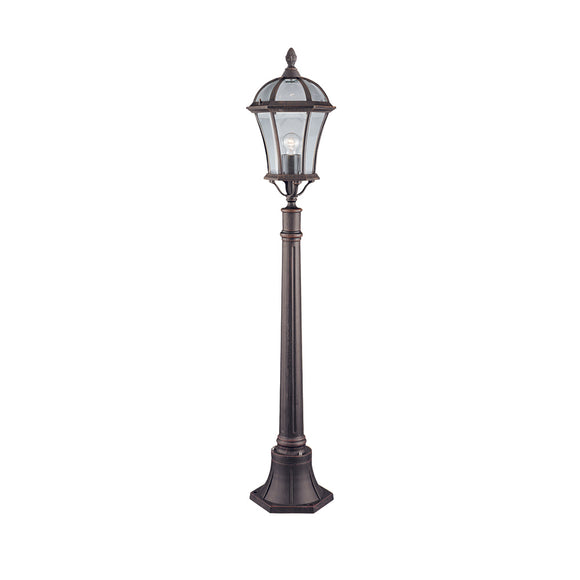Searchlight 1568 Capri Rustic Brown Outdoor Post Light