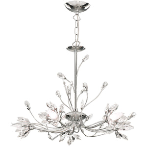Searchlight 1885-5CC Hibiscus 5 Light Polished Chrome Pendant Ceiling Light
