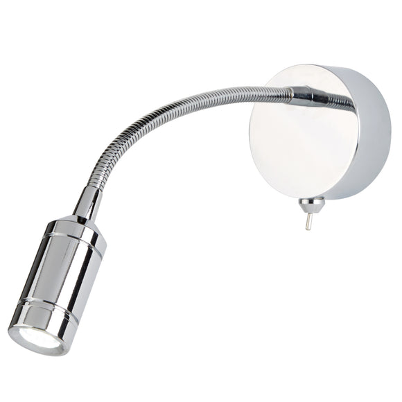 Searchlight 2256CC Polished Chrome LED Wall Light (Switched)