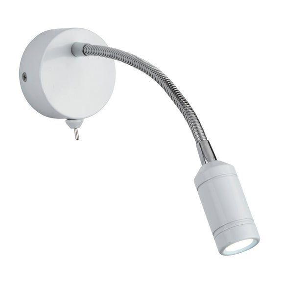 Searchlight 2256WH White LED Wall Light (Switched)
