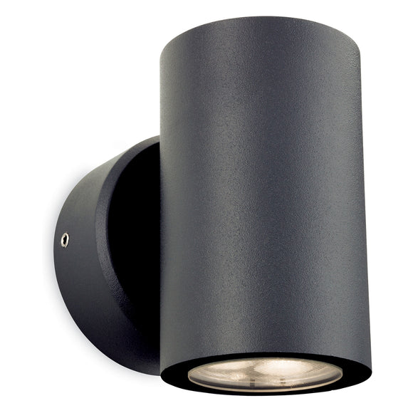 Firstlight 2334GP Alaska LED 2 Light Graphite Wall Light