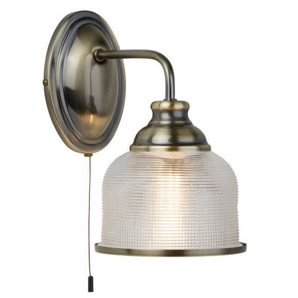 Searchlight 2671-1AB Bistro II 1 Light Antique Brass Wall Light