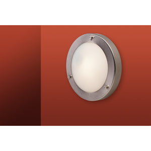 Firstlight 2745BS Rondo 1 Light Brushed Steel Wall-Ceiling Light