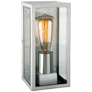 Firstlight 3424ST Dallas 1 Light Stainless Steel Wall Light